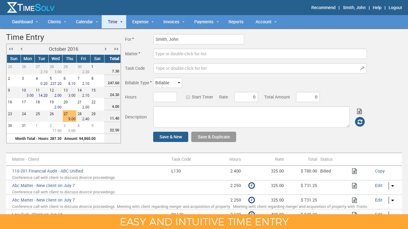 Best Online Legal Time And Billing Software TimeSolv - Invoice software demo